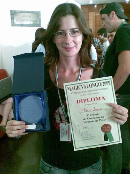 Patri Zenner en la entrega de premios