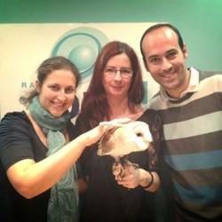 Foto con Locutores de Radio Sol XXI - Victor y Alicia
